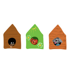 in an ecological house live happier vector image