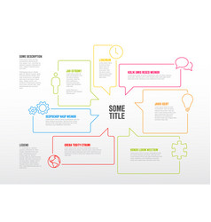 Infographic template made from speech bubbles vector