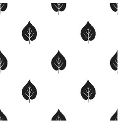 Linden leaf icon in black style for web vector