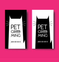 Logo for pet hair salon pet grooming salon vector