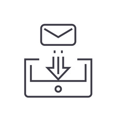 mail box post linear icon sign symbol on vector image