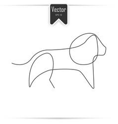 One line lion design silhouette vector