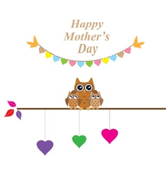 owl mom vector image