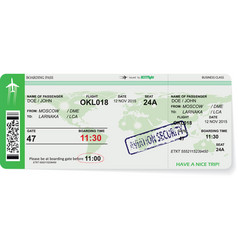 pattern of airline boarding pass ticket vector image