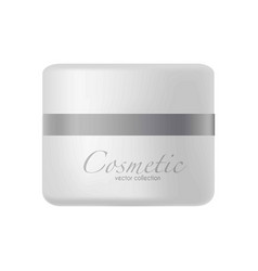 plastic jar with cosmetic cream vector image vector image