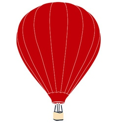 Red air balloon vector image