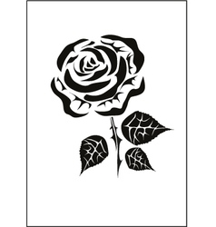 Rose icons tattoo vector image vector image