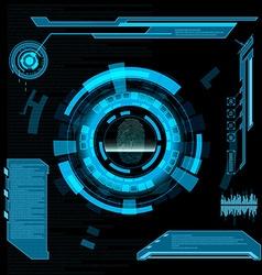 Scanning fingerprint interface hud vector