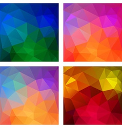 Set of Colorful geometric modern patterns vector image vector image