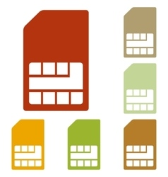 Sim card sign vector image