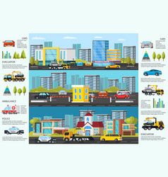 Transport evacuation infographic vector