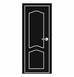 Wooden door icon simple style vector image vector image