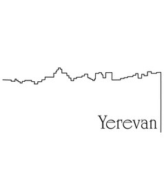 Yerevan city one line drawing background vector