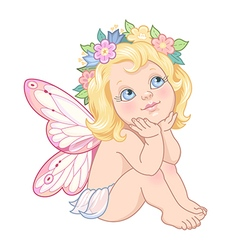 fairy pink vector image