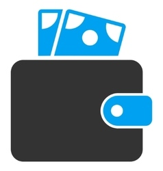 Wallet flat icon vector