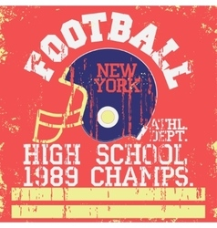 Football vintage t-shirt graphics vector