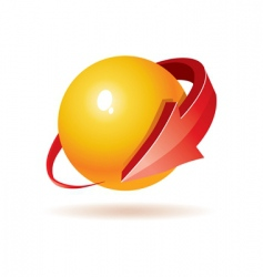 3d sphere and arrow vector image