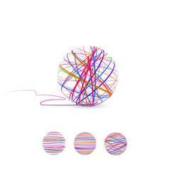 Tangle  ball of thread for vector