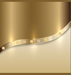 Golden texture background with curve and precious vector
