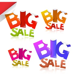 Colorful Big Sale Sticker - Label Set vector image