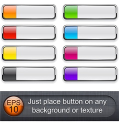 Rectangular glossy buttons vector