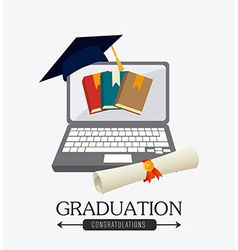 Graduation design vector