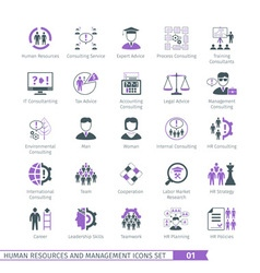 Human Resources Set 01 vector image