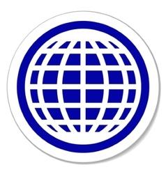 Globe round sticker vector image