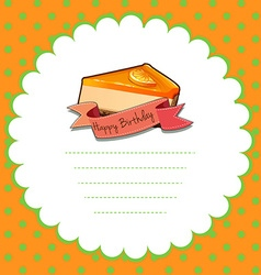 Border design with orange cheesecake vector