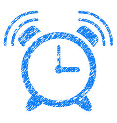 Alarm clock ring grunge icon vector