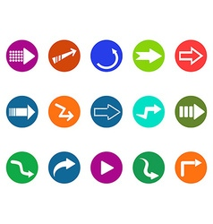 Arrow sign circle button icons set vector