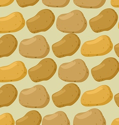 Background of potato seamless pattern of vector image