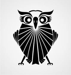 Black owl bird vector
