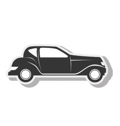 Car black transport design vector