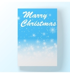 Christmas hollyday card vector image