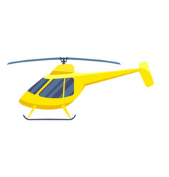 Commercial helicopter isolated icon vector
