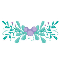 cute combination with hand-drawn floral vector image vector image