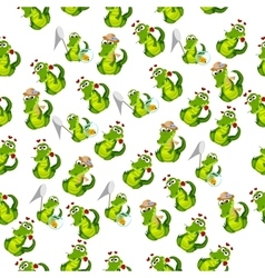 cute crocodile or alligator vector image vector image