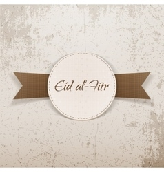 Eid al-fitr decorative greeting badge vector
