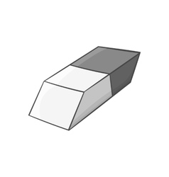Eraser icon black monochrome style vector image vector image
