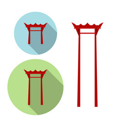 Giant swing torii gate icon vector