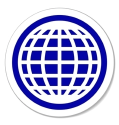 Globe round sticker vector image vector image