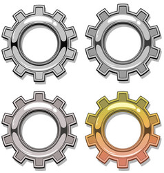 graphic colour and grey mechanical gear set vector image vector image