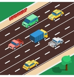 Highway Isometric vector image vector image