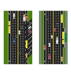Highway planning roads streets with parking and vector
