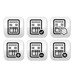 Invoice finance buttons set vector