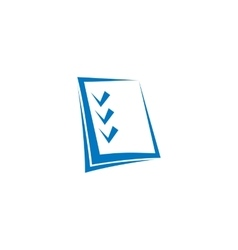 Isolated abstract blue color checklist contour vector