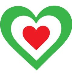 Italian Heart vector image