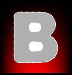 Letter b sign design template element postage vector