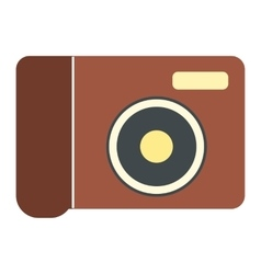 New portable camera flat icon vector